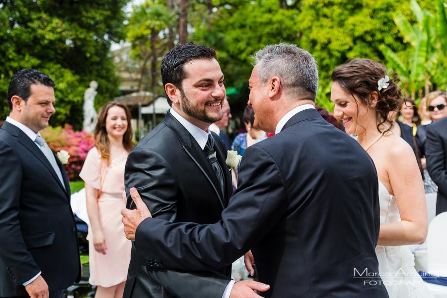 outdoor civil wedding ceremony villa Giulia pallanza lake maggiore