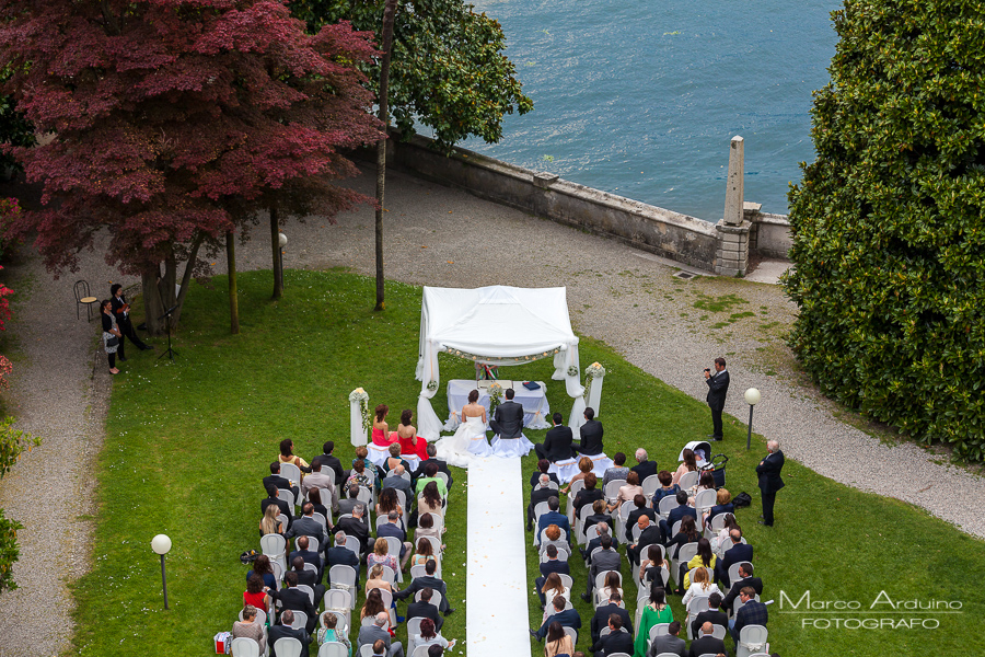 outdoor civil wedding ceremony villa Giulia lake maggiore