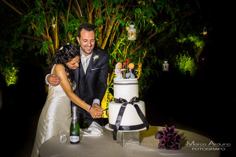 wedding cake cutting Torino