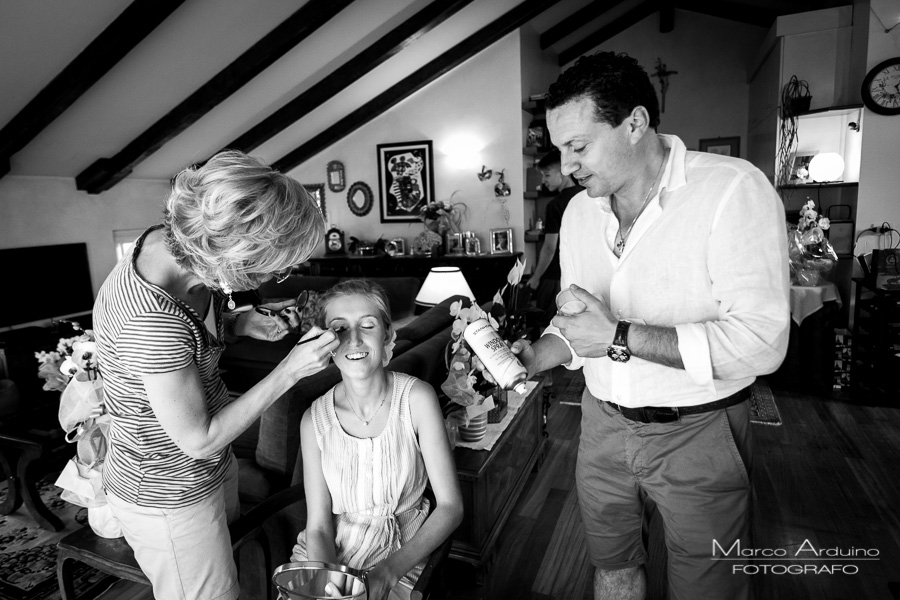 bride getting ready Milan italy