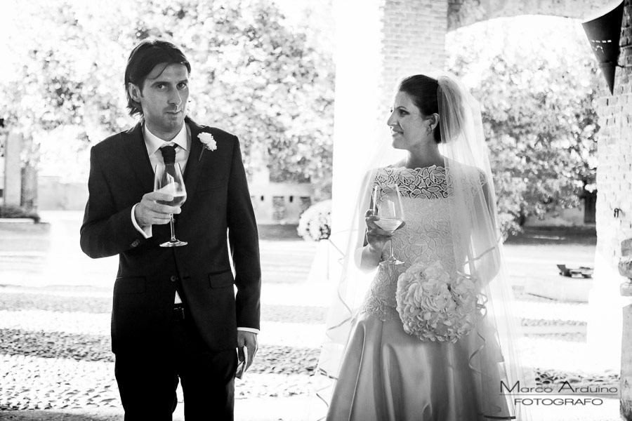 wedding toasting in contryside