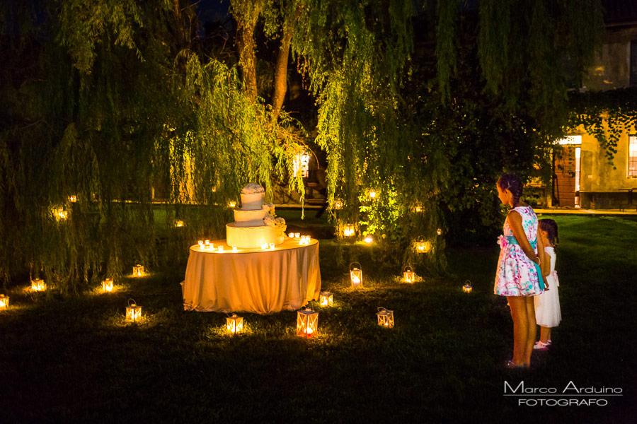 wedding cake in countryside lombardy