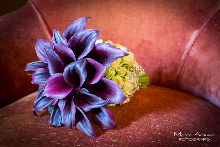 Elegant bridal bouquet Torino Italy