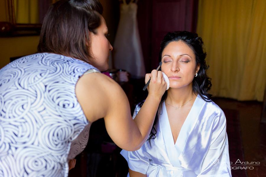 bride getting ready castle San Sebastiano Po Italy