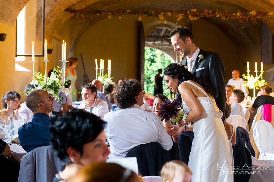 wedding reception castle San Sebastiano Po Italy