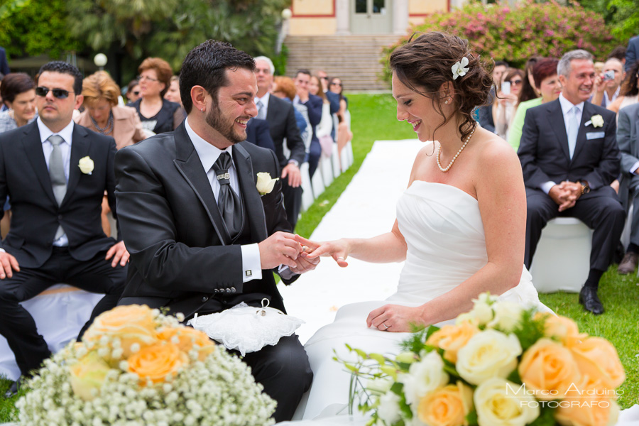outdoor wedding ceremony lake maggiore Italy