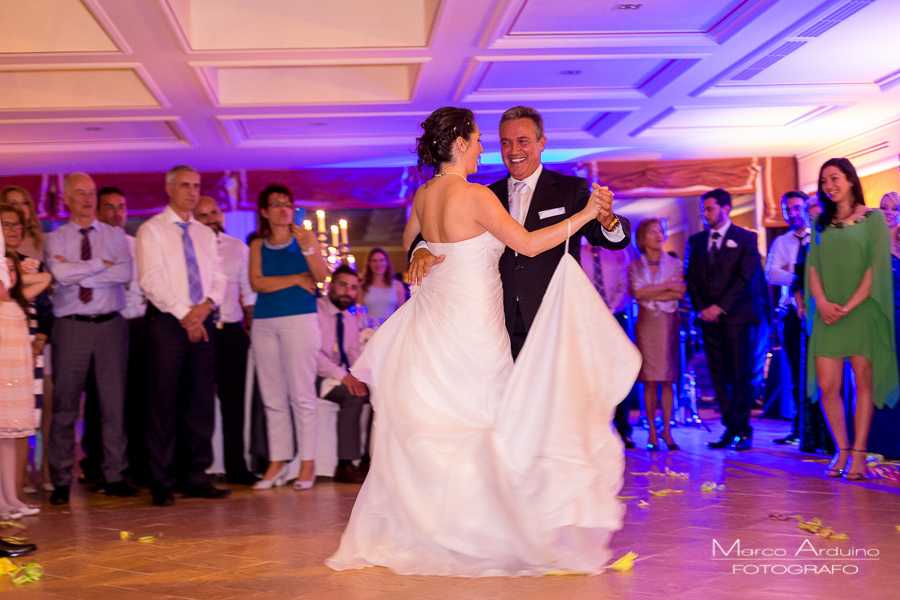 Wedding first dance father daughter lake Maggiore Italy