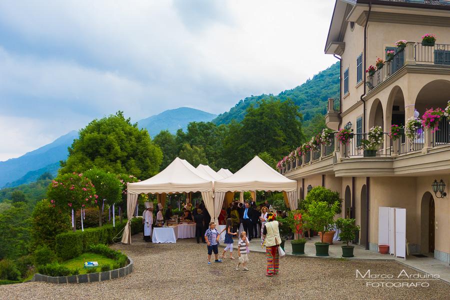 wedding party lake Orta