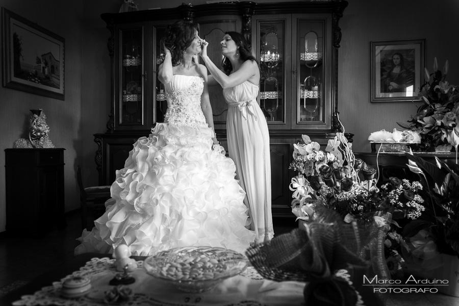 bride getting ready stresa lake maggiore italy