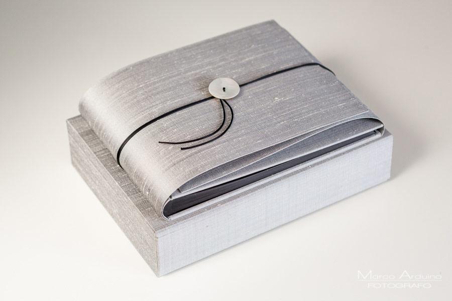 wedding album silver silk