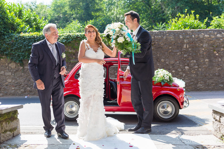 wedding car fiat 500