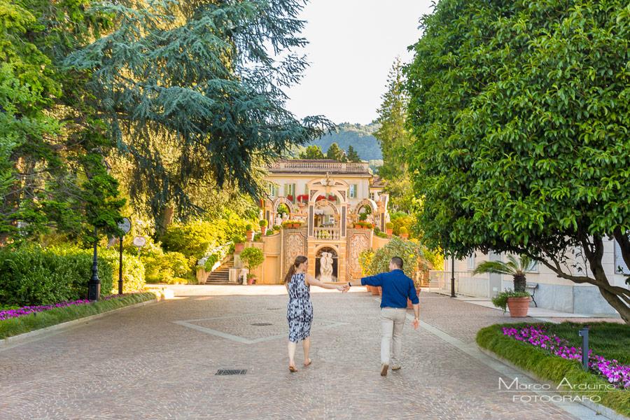 engagement session on lake Maggiore gran hotel des iles borromees Stresa