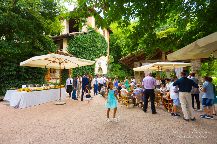 outdoor wedding reception in Santo Spirito Abbey- Villa Giannone