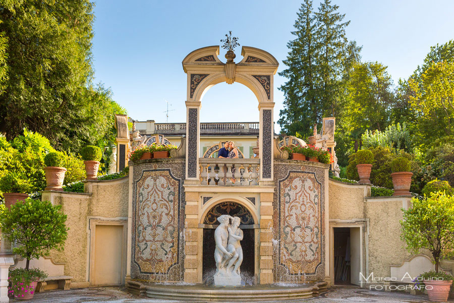 engagement session on lake Maggiore gran hotel des iles borromees verbania