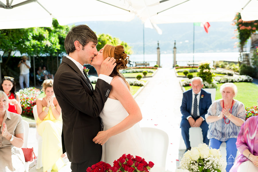 outdoor civil ceremony lake orta
