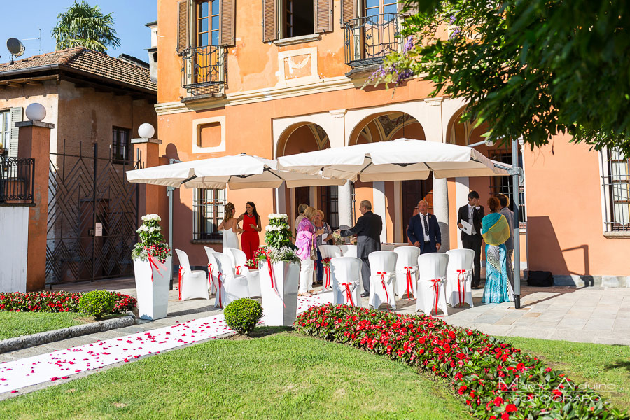 outdoor civil ceremony villa bossi lake orta