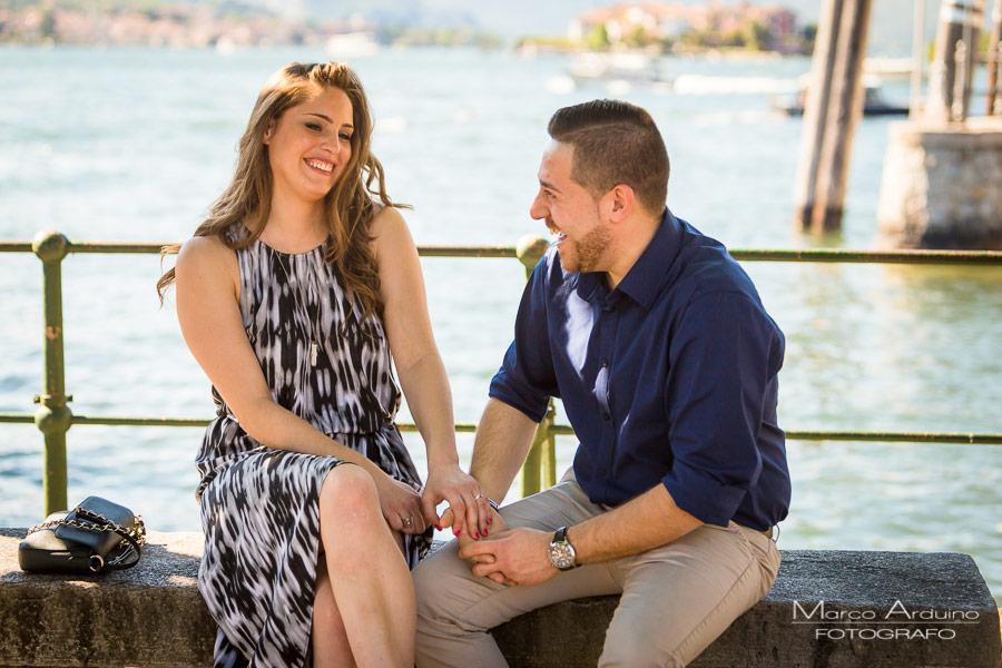 engagement session on lake Maggiore isola bella borromean island Stresa