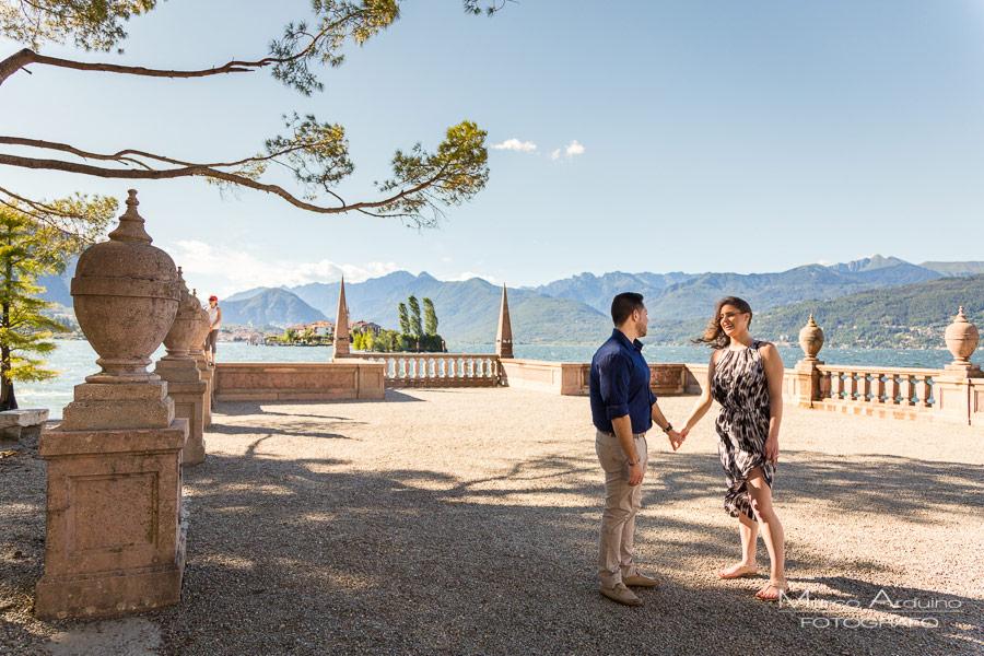 engagement session lake Maggiore isola bella novara