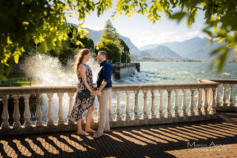 engagement session lake Maggiore Stresa verbania