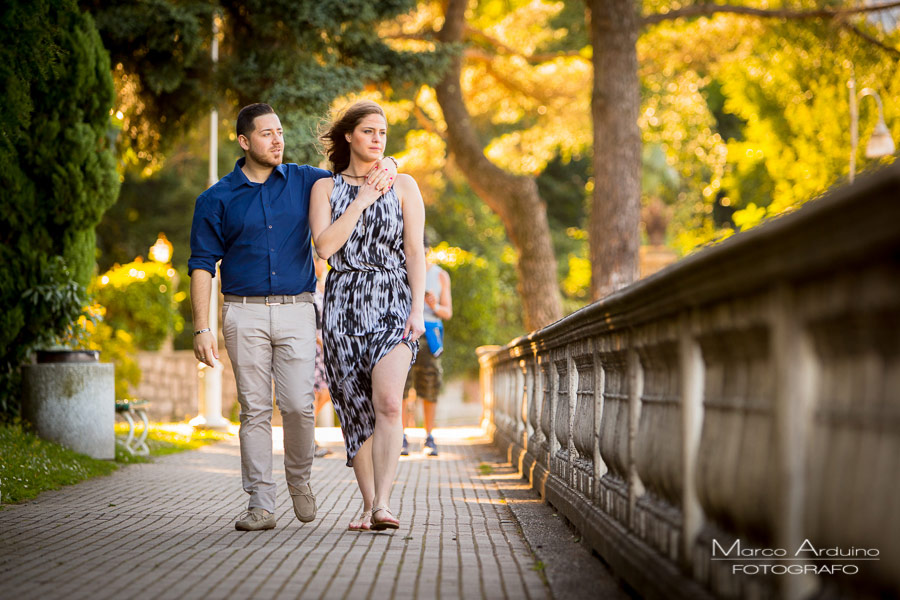 engagement session on lake Maggiore Stresa