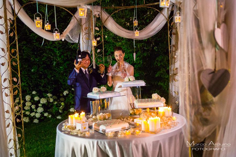 wedding cake cut lake Maggiore