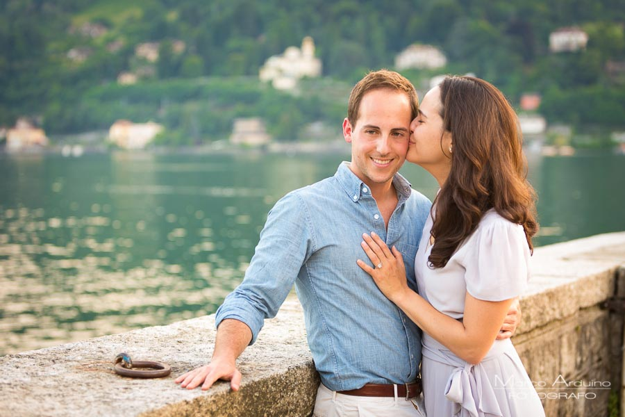 wedding proposal on lake maggiore